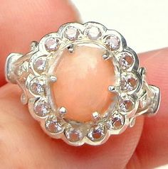 Welo Opal sz 7 and White Topaz Ring by JanesGemCreations on Etsy, $69.00