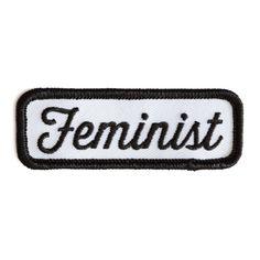 Feminist Patch (Black on White)