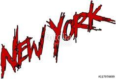 """New York text sign"" creato da morgan capasso"