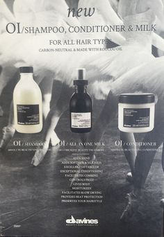Davines hair products , carried at Salon Rosa M . #davines #hair #sulfate #free
