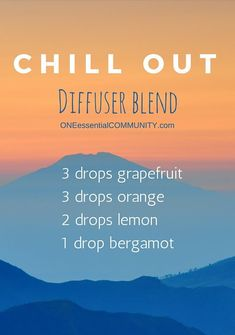 Need to relax a little? Need to find your happy place? Try this Chill Out essential oil diffuser blend {with grapefruit, orange, lemon and bergamot-- it smells amazing!!}  plus there's a FREE PRINTABLE of 15+ diffuser blends