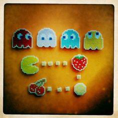 Pacman cross-stitch