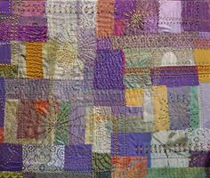 """This is an organza collage """"Fireworks"""", embellished with machine and hand stitching as well as beading. Hand Stitching, Fireworks, Collages, Beading, Mixed Media, Textiles, Quilts, Blanket, Wall"""