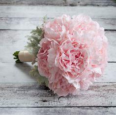 Blush Pink Peony Wedding Bouquet by KateSaidYes, www.katesaidyes.etsy.com