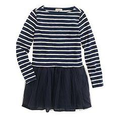 Girls' tulle tee dress