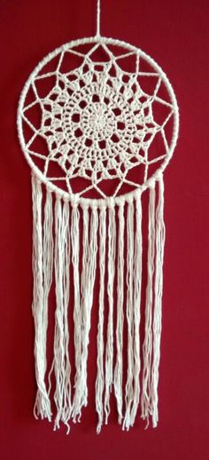 Crochet dreamcatcher, no pattern but with lots of inspiration from other pins!