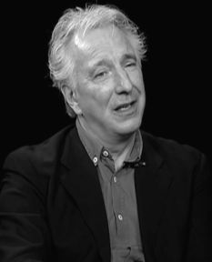 "February 28, 2012 -- Alan Rickman during a ""Charlie Rose"" Interview."