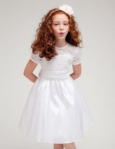 Visit our online store to find a massive range of flower girl dresses, Communion dresses, & pageant dresses in premium quality. Girls White Dress, White Flower Girl Dresses, Lace Flower Girls, Girls Holiday Dresses, Girls Pageant Dresses, Party Dresses, First Communion Dresses, Baptism Dress, Baptism Clothes