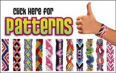 Friendship Bracelet Patterns written and video instructions using the My Friendship Bracelet Maker® by MyFBM.com and the Choose Friendship C...