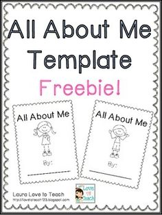 All About Me Worksheets | Back to School TPT Pre-k/ 7th | Pinterest ...