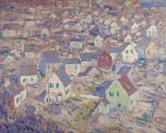 George Elmer Browne - Rooftops, 1920s