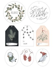 [DIY Noël] 20 planches d'étiquettes à imprimer gratuitement – MamanDIY