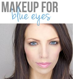 Makeup Tutorial for blue eyes, using only drugstore products!-- gotta love Cara!!! I need to try this- makeup geared for pale girls