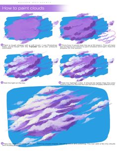 How to paint clouds by wysoka on deviantart acrylic painting ideas to fill your spare time with Cute Canvas Paintings, Small Canvas Art, Mini Canvas Art, Aesthetic Painting, Aesthetic Art, Aesthetic Yellow, Aesthetic Drawing, Mirror Painting, Painting Tips