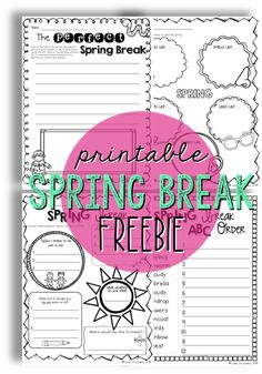 Free Spring Break freebies. Great to fill in any extra time on the last day before the break…or the first day back!