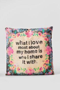 Love Most Bungalow Pillow $38.00