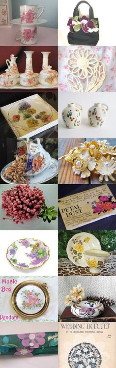 Flower Bouquet Featuring Pretty Vintage House Vrev Shop Tour by Lisa on Etsy--Pinned with TreasuryPin.com