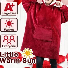 Made of ultra-soft fleece and lined with warming. One size fits all- roomy enough to cover you from head to toe Extra large hood keeps your head comfy and warm Plus Size Cardigans, Coat Sale, Denim Coat, Vintage Coat, How To Roll Sleeves, Sweaters For Women, Hoodies, Coats, Loneliness