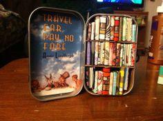 Altoids tin completely full of tiny books LOVE IT!