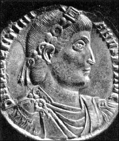 Elected by the army following Jovian's death, Valentinian I was Roman emperor from 364 to 375. He made his brother Valens co-emperor, giving him rule of the eastern provinces while Valentinian retained the west. Valentinian's reign was spent constantly fighting invasions and rebellions. He died of a stroke while on campaign in modern-day Hungary in 375.