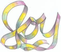 Ribbon Letter Sample