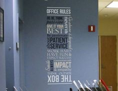 Drs. Office Wall Decal