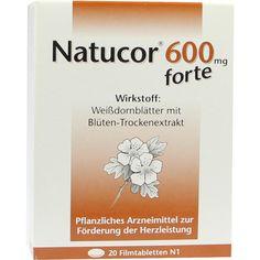 NATUCOR 600 mg forte Filmtabletten:   Packungsinhalt: 20 St Filmtabletten PZN: 06474383 Hersteller: Rodisma-Med Pharma GmbH Preis: 5,53…