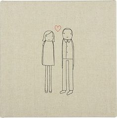 embroidered couple