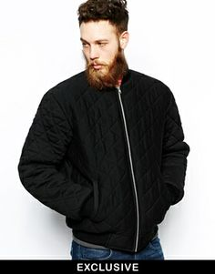 Image 1 of Reclaimed Vintage Quilted Bomber Jacket