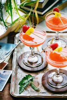 Raspberry Commodore Cocktail