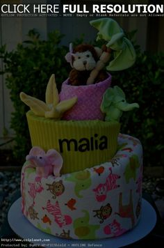 baby girl jungle baby shower balloons - Google Search