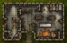 Dragon's Tale Inn, a FREE printable and online battle map for Dungeons and Dragons / D&D, Pathfinder, and other tabletop RPGs. Tags: tavern, shop, encounter, inn, town, city, village, house, print, roll20, Fantasy Grounds