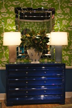 Lisa Mende Design: On Trend - Lacquer Furniture & Amy Howard Paints, love this deep blue piece Decor, Home And Garden, Furniture, Interior, Painted Furniture, Home Decor, Amy Howard Paint, Inspiration, Chinoiserie Chic