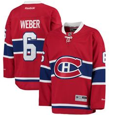 Declare your passionate Montreal Canadiens pride with this Shea Weber Premier Player jersey from Reebok! It features authentic Montreal Canadiens and Shea Weber graphics so everyone will know where your allegiances lie! Montreal Canadiens, Reebok, Shea Weber, Spirit Jersey, National Hockey League, Diy Clothing, Nhl, Football, Stuff To Buy