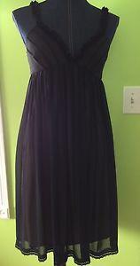 London Times Sz 4 Women's Black Dress Lacy Sheer Loose | eBay
