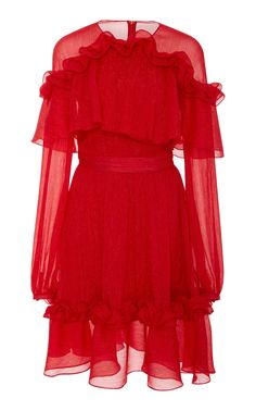 Shoulder Ruffle Dress by Prabal Gurung