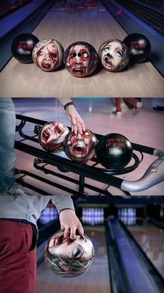 zombie head bowling balls.  Gruesomely funny.
