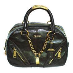 9dc407757a48 £140.00 Sale Prada Leather Bowler Satchel Bags Bl0582s Black For Sale  Boston Bag, Satchel