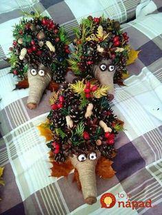 Vzala len rozrezanú plastovú fľašu a pár šišiek: Tento jesenný nápad nestojí nič, ale obdivovať ho bude úplne každý! Pinecone Crafts Kids, Pine Cone Crafts, Autumn Crafts, Pumpkin Crafts, Holiday Crafts, Christmas Crafts, Kids Christmas, Halloween Crafts For Toddlers, Fall Crafts For Kids
