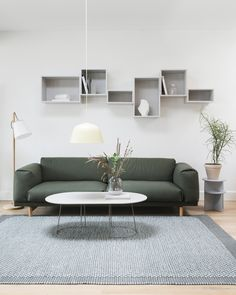 Scandinavian sofa inspiration from Muuto: The Rest Series is a warm, curvaceous interpretation of a classic shape. With two and three-seater versions, Rest adds a welcoming, plush look to any space. Glass Garage Door Cost, Garage Doors For Sale, Sofa Inspiration, Living Room Inspiration, Scandinavian Sofas, Muuto, Rest, Minimal Living, Minimal Decor