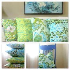 How to Make Four Quick & Easy Envelope-Back Throw Pillows - A Sewing Journal - A Sewing Journal