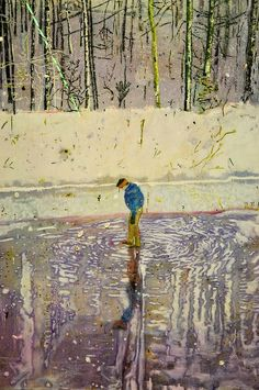 Peter Doig (Scottish, b. 1959)  Blotter - Etching and aquatint on paper