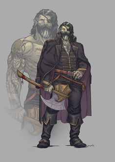 Fantasy Character Design, Character Design Inspiration, Character Concept, Character Art, Dungeons And Dragons Characters, Dnd Characters, Fantasy Characters, Orc Warrior, Fantasy Warrior