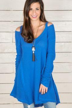 An Awakening Sweater-Blue