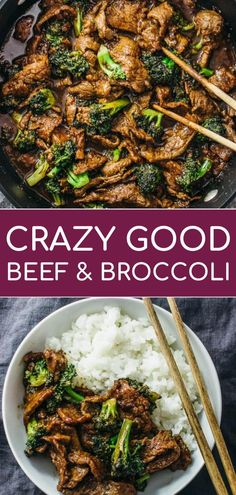 beef and broccoli This beef and broccoli recipe is CRAZY GOOD. Its so easy and quick to make this authentic Chinese stir fry using flank steak seared on a skillet or wok. The sauce is Broccoli Beef, Broccoli Recipes, Diced Beef Recipes, Best Broccoli Recipe, Asian Broccoli, Brocolli, Healthy Eating Tips, Healthy Recipes, Rice Recipes For Dinner