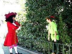Peter Pan v. Captain Hook... I love this. I want to live at Disneyland. Please?