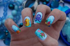 "octopus+nail+design Harlequin Hardware"" Nails by CND for Diego Binetti Spring 2012 Fish Nail Art, Fish Nails, Beach Nail Art, Cat Nail Art, Sea Nails, Octopus Nails, Hawaii Nails, Fingernails Painted, Vacation Nails"