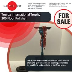 Truvox International Trophy 300 Floor Polisher offers optimum cleaning power ideal for scrubbing and polishing.