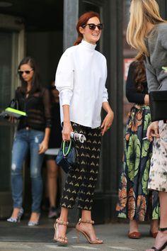 New York Street Style Fashion Week Spring 2014