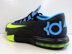 kd vi black volt vivid blue 01 570x427 Nike KD VI   Black   Volt   Vivid Blue   Dark Grey